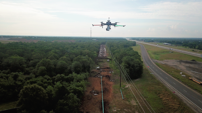 Drone LiDAR Pipeline Mapping Above Ground