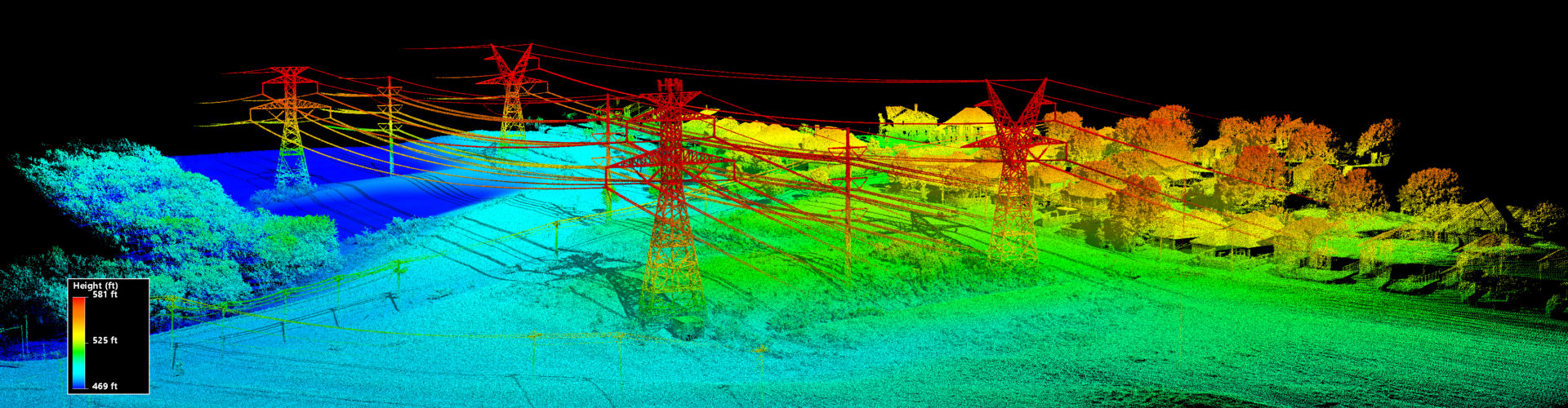 Drone LiDAR Transmission Right-Of-Way