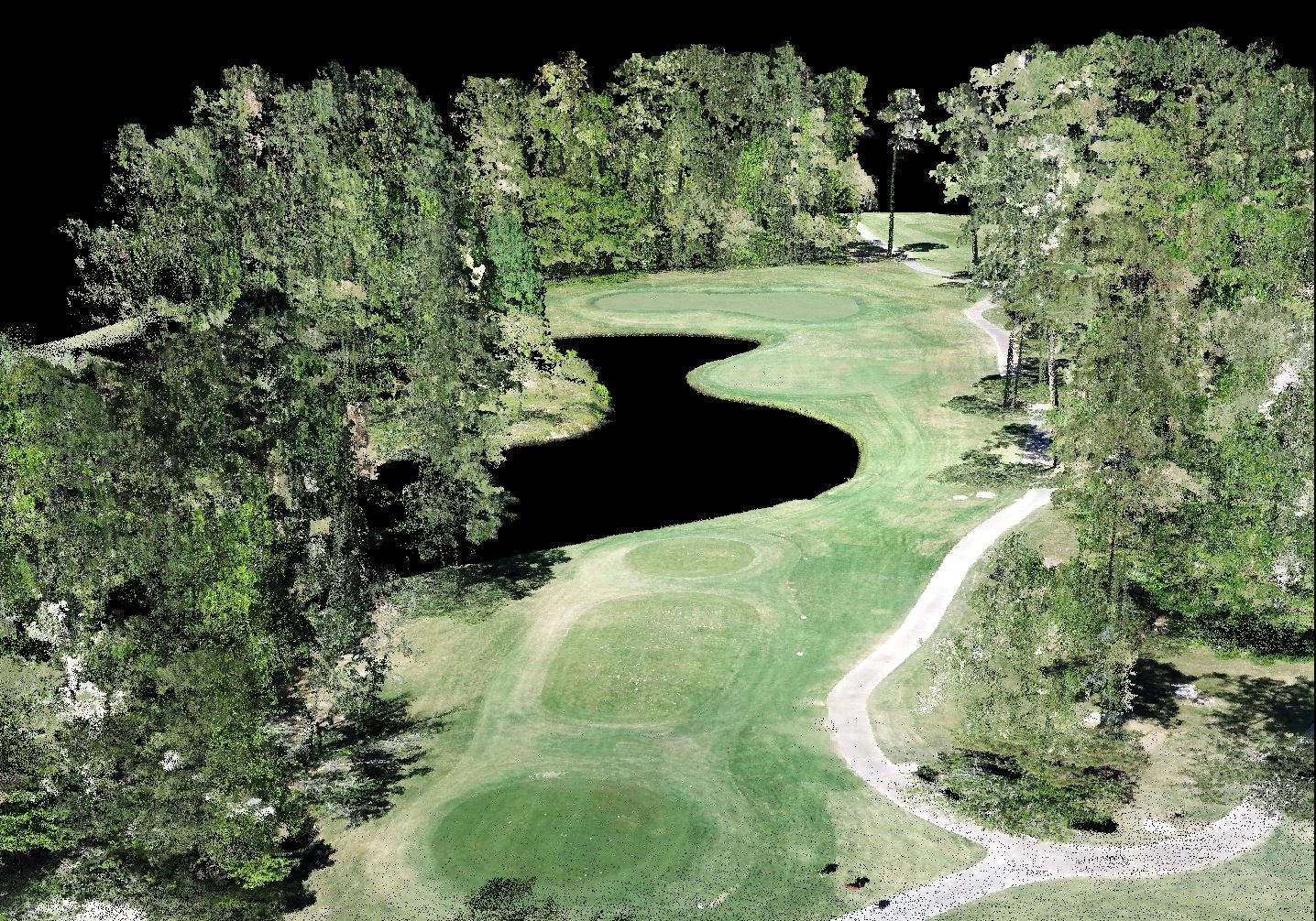 McCord Data Collection Services - Colorized LiDAR Golf Course