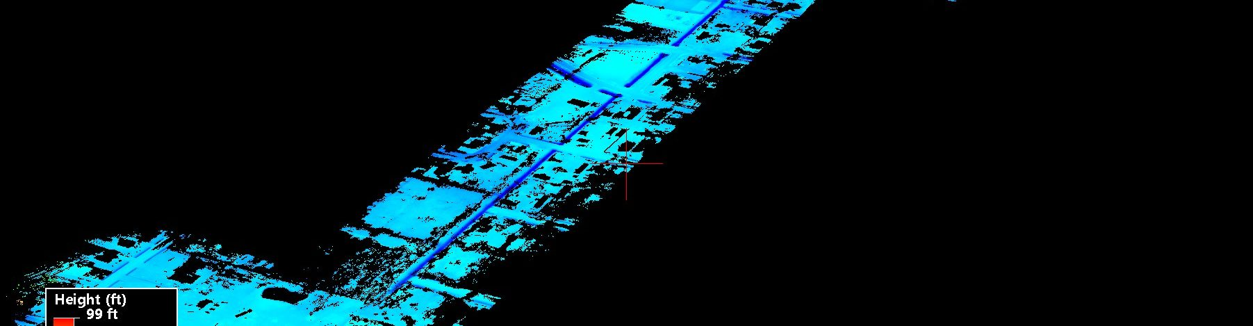 Drone LiDAR Trees Removed Urban Ditch