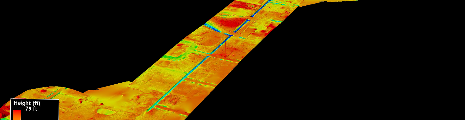 Drone LiDAR DTM Urban Ditch